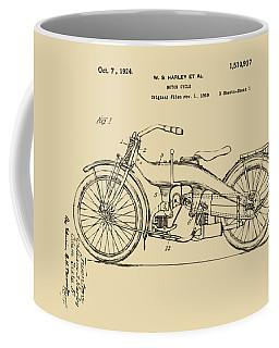 Vintage Harley-davidson Motorcycle 1924 Patent Artwork Coffee Mug
