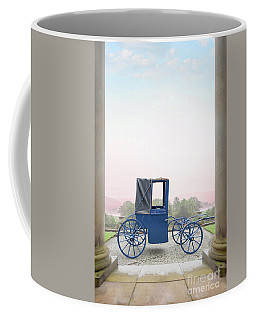 Vintage Horse Drawn Carriage Outside A Country Mansion  Coffee Mug by Lee Avison