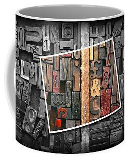 Vintage Inked Typeface Coffee Mug