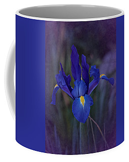 Vintage Blue Magic Iris Coffee Mug