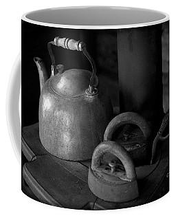 Vintage Items On Old Stove Coffee Mug