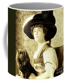Vintage Lady With Lapdog Coffee Mug by Marian Cates