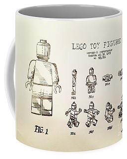Vintage Lego Toy Figure Patent - Graphite Pencil Sketch Coffee Mug