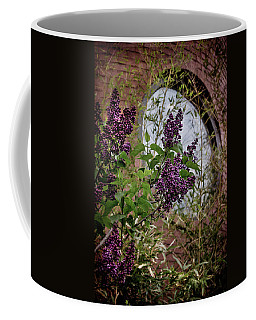 Vintage Lilac Tree On Brick Architecture Coffee Mug by Joann Vitali