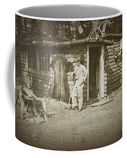 Coffee Mug featuring the photograph Vintage Log Cabin by Linda Phelps