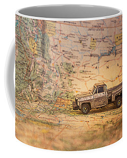 Coffee Mug featuring the photograph Vintage Map And Truck by Mary Hone