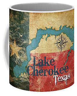 Vintage Map - Lake Cherokee Texas Coffee Mug