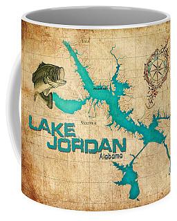 Vintage Map - Lake Jordan Al Coffee Mug