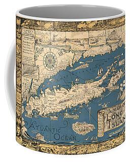 Vintage Map Of Long Island Coffee Mug