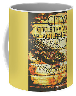 Vintage Melbourne Tram Tin Sign Coffee Mug