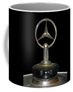 Coffee Mug featuring the photograph Vintage Mercedes Radiator Cap by David and Carol Kelly