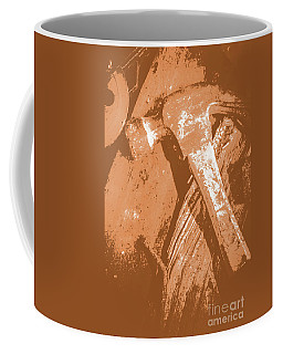 Vintage Miners Hammer Artwork Coffee Mug