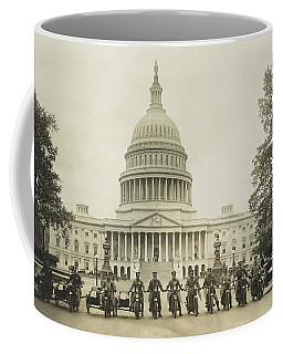 Vintage Motorcycle Police - Washington Dc  Coffee Mug