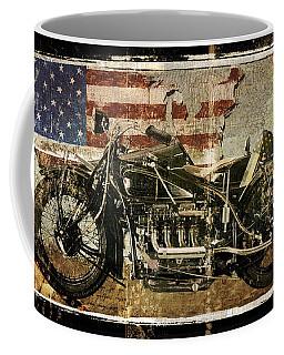 Vintage Motorcycle Unbound Coffee Mug