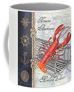 Vintage Nautical Lobster Coffee Mug