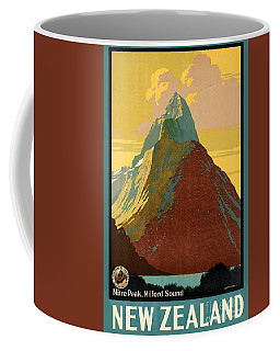 Vintage New Zealand Travel Poster Coffee Mug