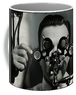 Vintage Optician Eye Test 1939 Coffee Mug by Peter Gumaer Ogden Collection