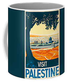 Vintage Palestine Travel Poster Coffee Mug
