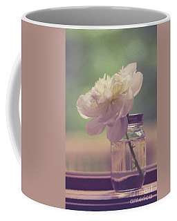 Coffee Mug featuring the photograph Vintage Peony Flower Still Life by Edward Fielding