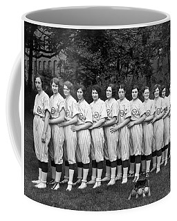 Vintage Photo Of Women's Baseball Team Coffee Mug