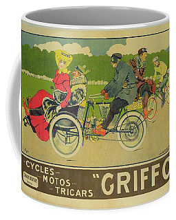 Vintage Poster Bicycle Advertisement Coffee Mug