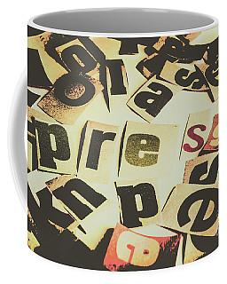 Vintage Press Headline Coffee Mug