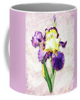 Coffee Mug featuring the painting Vintage Purple Watercolor Iris by Irina Sztukowski