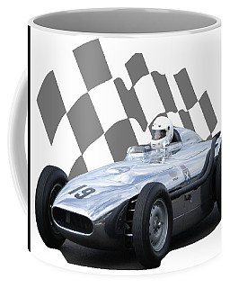 Vintage Racing Car And Flag 7 Coffee Mug