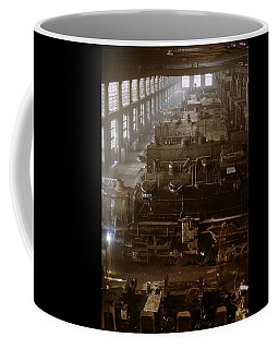 Vintage Railroad Locomotive Shop - 1942 Coffee Mug