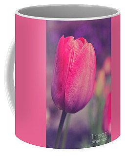 Coffee Mug featuring the photograph Vintage Red Tulip Flower by Edward Fielding
