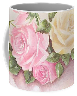 Vintage Roses Shabby Chic Roses Painting Print Coffee Mug
