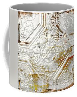 Vintage Rusty Tin Ceiling Tile Coffee Mug