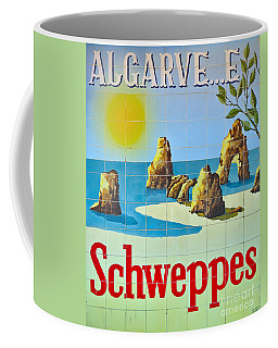 Vintage Schweppes Algarve Mosaic Coffee Mug