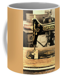 Coffee Mug featuring the photograph Vintage Sewing Machine by Jill Battaglia