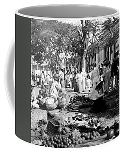 Vintage Street Scene In Ponce - Puerto Rico - C 1899 Coffee Mug by International  Images