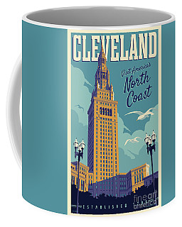 Cleveland Poster - Vintage Style Travel  Coffee Mug