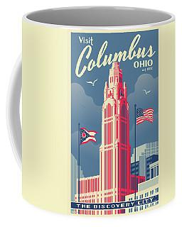 Columbus Poster - Vintage Style Travel Coffee Mug