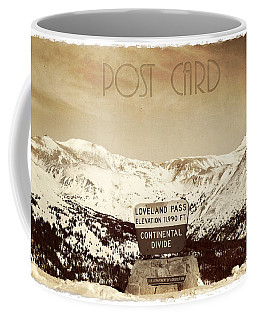 Vintage Style Post Card From Loveland Pass Coffee Mug