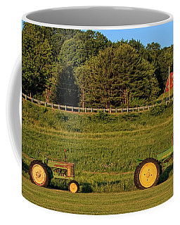 Vintage Tractors Sunset Panoramic Coffee Mug