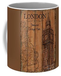 Coffee Mug featuring the painting Vintage Travel London by Debbie DeWitt