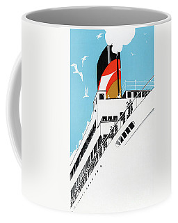 Vintage Travel Poster A Cruise Ship With Passengers, 1928 Coffee Mug