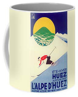 Vintage Travel Skiing Coffee Mug
