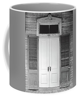 Coffee Mug featuring the photograph Vintage Tropical Weathered Key West Florida Doorway by John Stephens