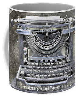 Vintage Typewriter Photo Paint Coffee Mug