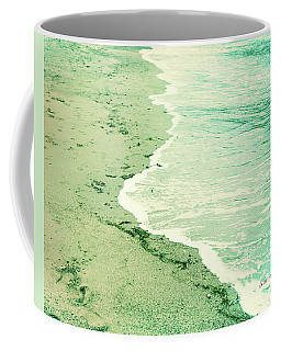 Vintage Waves In Yellow And Blue Coffee Mug