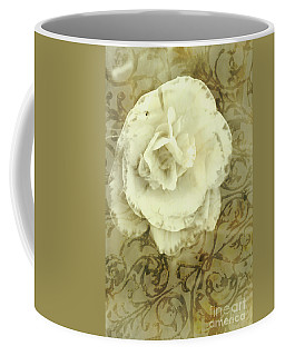Vintage White Flower Art Coffee Mug