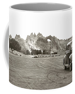 Coffee Mug featuring the photograph Vintage Window Rock Agency by Marilyn Hunt