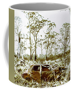 Vintage Winter Car Wreck Coffee Mug