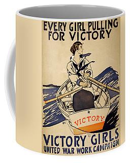 Vintage Women Rowboat Coffee Mug
