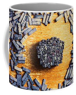 Vintage Writers Block Coffee Mug